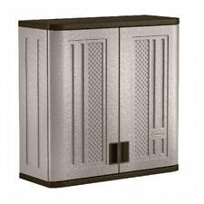 Outdoor Storage Cabinet Backyard Garage Lockable Wall Mount Patio Durable Resin