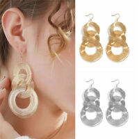 Fashion Round 3 Circles Geometry Earring Boho Dangle Earrings Women Xmas Jewelry