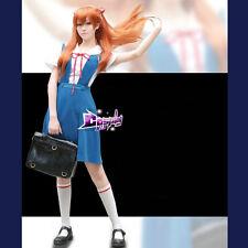 Cosplay Neon Genesis Evangelion EVA Rei Ayanami Girl Dress Party Costume Skirt