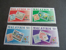 MALAYSIA 1992 SG 487-490 125TH ANNIV OF POSTAGE STAMP  MNH