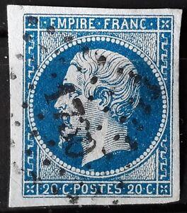 TIMBRE FRANCAIS -1854 N°14A -OBLITERE  COTE 8 EUROS