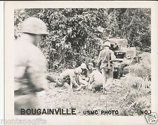 1940s WWII  USMC Bougainville, Marines 4x5 Photo No 1  tank