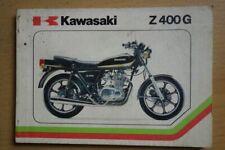 Betriebsanleitung Kawasaki Z 400 G
