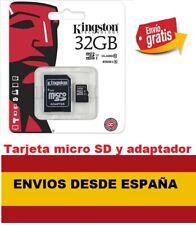 Tarjeta memoria Micro SD SDHC Kingston 32GB