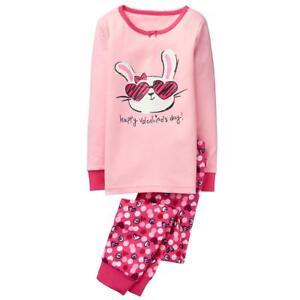 Gymboree Sleepwear White con Stampa Giungla Camicia da notte 2 3 4 5 6 7 8 10 12 Nuovo con etichette
