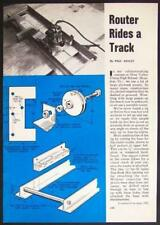 ROUTER Track Roller GUIDE How-To build PLANS Gr8 for Dado Cut-Off Straight Edge