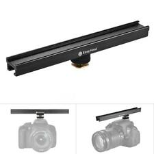 Cold Shoe Mount Metal Extension Bar Bracket Dual Sided Mounting Accessory DSLR