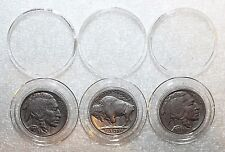 3 Airtite Direct Fit Coin Holder Capsules A21-Liberty Washington Buffalo Nickels