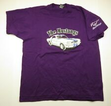 80s Retro The MUSTANGS Car & Horse Graphic Purple T-Shirt Adult Men's Size Large