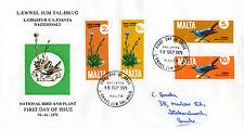 MALTA 18 SEPTEMBER 1971 NATIONAL PLANTS & BIRDS FIRST DAY COVER FDI