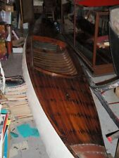 Old Vintage Antique Wood Canoe ca1900 Orig for Sailing Use or Restaurant Display