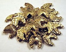20 Horseshoe Gold Charms Gumball Cracker Jack Toy Prize