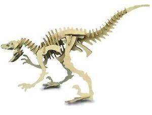 Velociraptor: Woodcraft Construction Wooden Dinosaur3D Model Kit CX 214