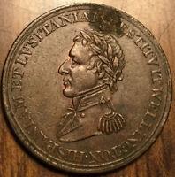 1812 LOWER CANADA HALFPENNY TOKEN WELLINGTON CUIDAD SALAMANCA REEDED DIAGONAL