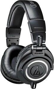 Audio-Technica ATH-M50x Studio Monitor Over the Ear Headphones - Black