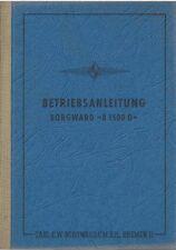 LKW BORGWARD B 1500 D Betriebsanleitung 1955 Bedienungsanleitung Handbuch BA