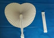 100 x Paper Heart Folding Fans - Chinese Loot/Party Bag Fillers Wedding favours