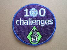 100 Challenges Girl Guides Cloth Patch Badge (L2K)