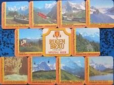 Bierdeckel Serie Sammlung - Schweiz - Rugenbräu Interlaken - Jungfrau Region 10v