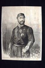 Il sultano Abdul-Aziz-Khan, morto il 4 giugno 1876 Incisione del 1876