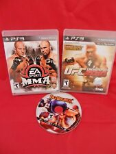 Lot of 3 PS3;UFC Undisputed 2010,EA Sports MMA,- Both Complete, Facebreakers, VG