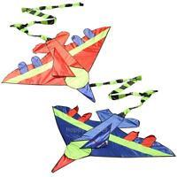 Outdoor Fun Kids Flying Kite Novelty Airplane Shape Kites Children Toy