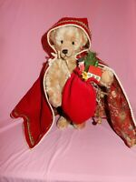 "Charming 15"" Nancy Crowe w Artist  Mohair  Teddy Bear Winter red hood Bear"
