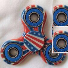 American US Flag Blue Pocket Gear Gyro EDC ADHD Autism Fidget Spinner Focus Toy