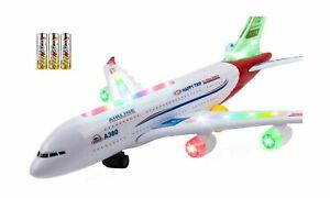 Toysery Airplane Toys for Kids, Bump and Go Action Airbus A380 Model Airplane...