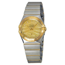 Omega Constellation Champagne Mother of Pearl Diamond Dial Ladies Watch