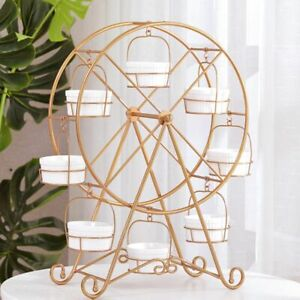 Rotating Ferris Wheel Display Cupboard Stands 8 Cups Cake Carnival Party Decors