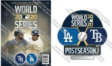 2020 MLB OFFICIAL WORLD SERIES PROGRAM & PIN TAMPA BAY RAYS LOS ANGELES DODGERS