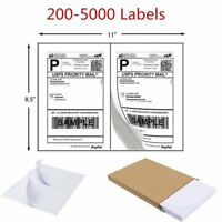200-5000 Half Sheet 8.5x5.5 Shipping Labels 2/Sheet Self Adhesive For USPS