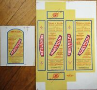 Drug/Pharmacy 1920s French Box & Bottle Labels, Printer's Proof, 'Hydrameline'