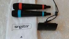 SingStar PS3 Wireless Microphones Sony PlayStation PS4/PS3/PS2 + SingSta Bag