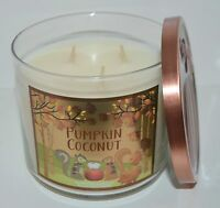 NEW BATH & BODY WORKS PUMPKIN COCONUT SCENTED CANDLE 3 WICK 14.5OZ LARGE TOASTED