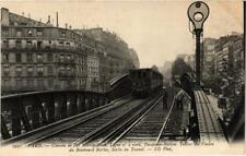 CPA PARIS Chemin de Fer Métropolitain. Ligne no. 2. Tablier du Vaduc (676313)