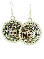 Soccer  MOM   earrings /dangle/silver plated