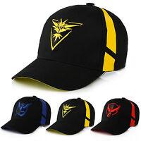Pokemon Go Cap Hat Team Valor Team Mystic Team Instinct B-Boy Cap Baseball Hat