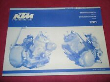 SPARE PARTS MANUAL ENGINE OCCASION KTM 250/300/380 SX MXC EXC ANNEE 2001