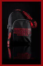 Primark Netflix Stranger Things Side Bag in red and black