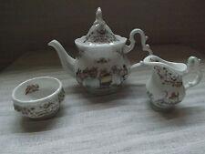"Royal Doulton bramley Hedge ""The Service"" Miniature teapot milk and sugar"