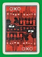 Playing Cards 1 Single Card Old Wide OXO Advertising Art Chinese Lanterns SWANS