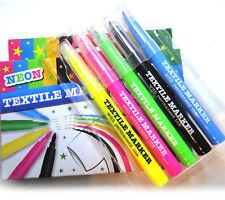 Neon Textilmarker 5 Stück Textilmalstifte Stoffmalstifte Malstifte Marker Neu