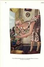 Risque Esquire '30's Carrier Pigeon Ultimatum ~ Tramcar Manners Cartoon
