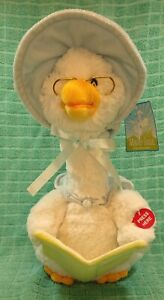 Cuddle Barn Mother Goose Reading 5 Nursery Rhymes Talking Animated Plush Works