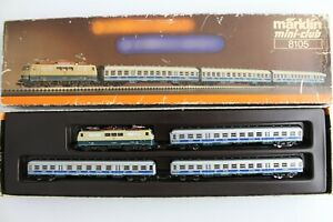 8105 Train Set Airport Express Märklin Mini Club Z Gauge Boxed + Top+
