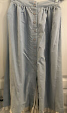 Vintage Unbranded Women's Long Button Front Skirt Blue White Eyelet Size 8