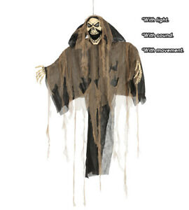 Halloween Decoration Hanging SKELETON Prop 1.9m  Light & Sound Animatronic 26015