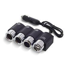 Okra In-car 3 Sockets Cigarette Lighter DC 12V/24V Car Charger Splitter Multi...